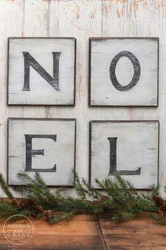 DIY Distressed Christmas Signs