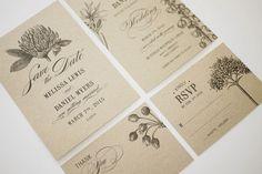 Botanic Garden Wedding Invitations Printable Template Set of 4. $79.00, via Etsy.