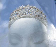 Olivia Filigree Pearl Bridal Tiara OOAK Handmade by SusieBDesign