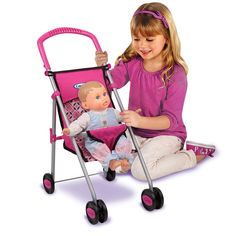 Busy, on-the-go mommies love this travel-friendly stroller! Thanks to its fabulous flat-fold design, this sweet little doll stroller is great for tossing in the back of the car for trips to Grandma's house. When playtime is over, it folds easily into the closet or under the bed. Easy to push, easy to store, easy to love!Doll Not Included.