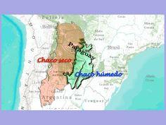 mapa chaco-seco y humedo