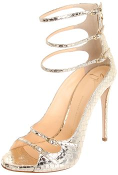 Triple Ankle Strap Sandal / Giuseppe Zanotti #wedding #shoes