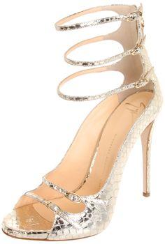 Triple Ankle Strap Sandal / Giuseppe Zanotti #wedding #shoes