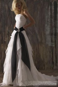 I love the ruffles and the touch of color!