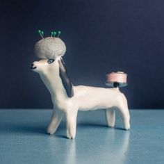 Fantastic haberdashery dogs by Eleonor Boström. Pincushions, Haberdashery, Ears, Folk, Smile, Sewing, Grey, Cute, Handmade