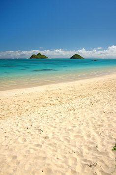✯ Lanikai Beach - Oahu, Hawaii, most beautiful beach i've ever seen Hawaii Vacation, Oahu Hawaii, Hawaii Travel, Dream Vacations, Vacation Spots, Kauai, Kailua Oahu, Kailua Beach, Hawaii Beach