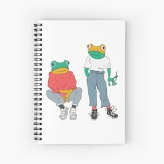 Frogs, Notebooks, Spiral, Finding Yourself, Art Prints, Printed, Awesome, Artist, Design