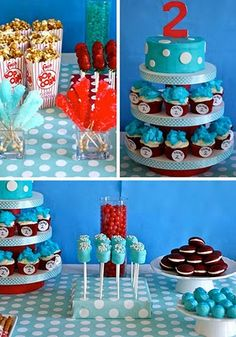 Dr. Seuss inspired sweets table ideas! 1st bday theme ideas! To cute! :)