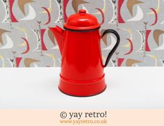 It's red and for coffee!! What more can I say?
