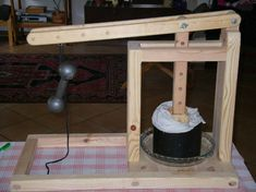 Dutch Style Cheese Press, home made.