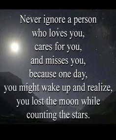 Never ignore a person