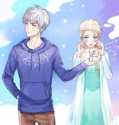 Jelsa! Jack/Elsa, Frozen I don't ship them...I freaking cruise line them