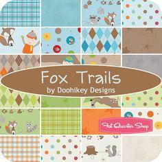 Fox Trails fabric -  Doohikey Designs for Riley Blake Designs