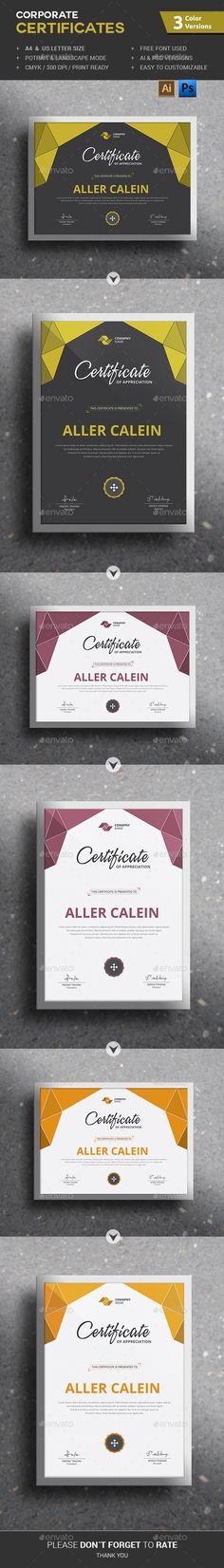 Corporate Certificates Template PSD, Vector AI. Download here: http://graphicriver.net/item/corporate-certificates/12950160?ref=ksioks