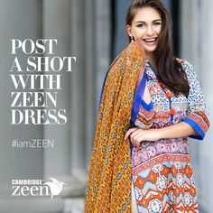 """""""POST A SHOT WITH Zeen DRESS"""" ..!!!!  Share your image wearing a ZEEN DRESS on Instagram and tag it to #iamZEEN to win a fabulous gift from us.!!!!  http://instagram.com/Thezeenwoman"""