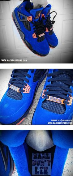 "e6ae739c56 Here is a look at a custom pair of Air Jordan IV ""Ball Don't Lie"" Sneakers  by Mache Customs, love the job he didnt Minus the Sheed Logo, t."