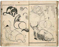 Hokusai in Full View Berlin 2011 Japanese Art Modern, Japanese Art Prints, Japanese Drawings, Japan Painting, Manga, Katsushika Hokusai, Japanese Illustration, Artist Sketchbook, Dragon Art
