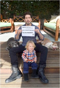 Jon Bernthal takes part in The Majority Project campaign. (Photo by Matt Petit/Feature Photo Service for Animal Farm Foundation)<br> Jon Bernthal, Pit Bull Love, Pit Bulls, Beautiful Dogs, Beautiful Person, Dog Owners, Farm Animals, Puppy Love, Best Dogs
