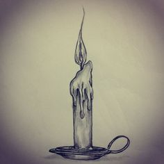 Candle tattoo sketch by  Ranz Art / Drawings / Tattoo sketches are done by  Me (unless otherwise stated)  | tattoos picture tattoo sketches