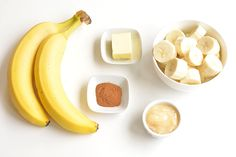 These pan fried cinnamon bananas are so easy to make and taste SO GOOD! They're amazing (seriously AMAZING) on ice cream or pancakes, or just as a snack. Soft and sweet on the inside and caramelized on the outside. Banana Recipes, Snack Recipes, Dessert Recipes, Snacks, Desserts, Honey And Cinnamon, Cinnamon Bananas, Healthy Recipe Videos, Healthy Recipes