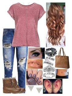 """""""Untitled #3100 - Outfit of the Day - 1/28/17"""" by nicolerunnels ❤ liked on Polyvore featuring Steve Madden, Topshop, Lizzie Mandler, J.A.K., Fantasy Jewelry Box, A.Jaffe and SOREL"""