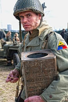 """""""The Super Sixth"""" ~ The 6th Armored Div. was created 02/15/42 at Fort Knox, Kentucky & was made up almost entirely of citizen draftee soldiers. Its training stations were Camp Chaffee, Ark., Louisiana Maneuvers, the Mojave Desert, & Camp Cooke, CA. It arrived in England in Feb. 44 & landed at Utah Beach on July 18, 1944. During the next 9 1/2 months, the 6th Armored fought in five major European campaigns of World War II: Normandy; Northern France; Ardennes-Alsase; Rhineland; Central Europe."""