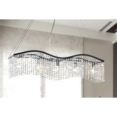 Wave 5-light Black and Crystal Chandelier | Overstock.com Shopping - The Best Deals on Chandeliers & Pendants