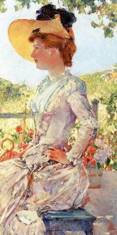 Evelyn Benedict at the Isles of Shoals by Frederick Childe Hassam - 1890