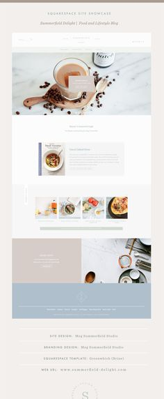 Squarespace Site Showcase | Food Blog Design | Summerfield Delight | Brine Template | Squarespace Food Blog