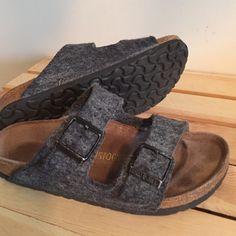 grey wool birkenstock sandals - Google Search