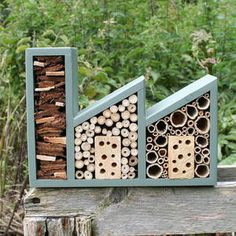Double Insect Factory for your garden allotment.    This guy is a genuis - Wudwerx