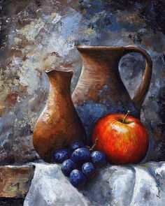 Still Life Art Print featuring the painting Still Life 11 by Emerico Imre Toth Still Life Drawing, Painting Still Life, Still Life Art, Fruit Painting, Still Life Photography, Painting Inspiration, Art Pictures, Watercolor Art, Fine Art America