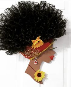 Black Woman Silhouette, Head Wreaths, Canvas Painting Tutorials, African Crafts, Black Love Art, African Girl, Cute Hairstyles For Short Hair, Afro Art, Quilling Art
