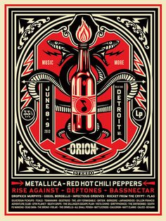 ☯☮ॐ American Hippie Obey Shepard Fairey Orion Music Festival 2013 Poster. Rock Posters, Band Posters, Music Posters, History Posters, Illustration Photo, Graphic Design Illustration, Festival Posters, Concert Posters, Festival Quotes