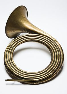 Trompe de chasse contrebasse, 1900  , Millereau, [The unusual feature of this natural horn is its unbroken tube length of over nine metres. It is pitched in 28-ft D. It was intended to add a deep notes to an ensemble of French hunting horns (trompes de chasse).], University of Edinburgh.