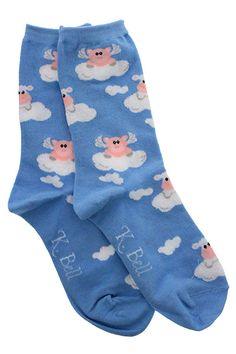 """""""When Pigs Fly"""" socks."""