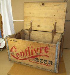 Vintage Centlivre Beer Crate-Wood Box and Lid,Fort Wayne,Indiana Brewing