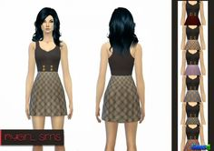 Tartan Tank Dress at NyGirl Sims via Sims 4 Updates