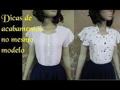 Blusas como fazer acabamento diferente no mesmo modelo - YouTube