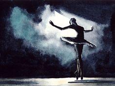 Water color Ballet Art