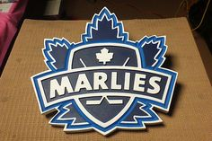 Toronto Marlies Logo made from SignFoam and cut on a CNC router.