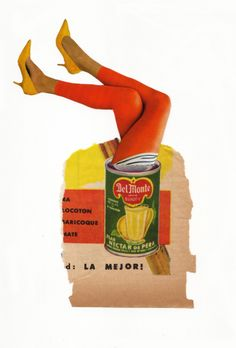 Calvin Holbrook: Canned Heat, 2013 #collage #colorful #legs #contemporaryart