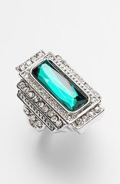 vintage inspired emerald ring