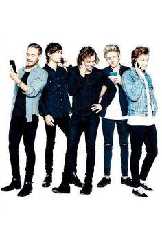 One Direction con los móviles :)