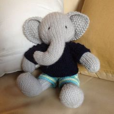 This listing is for an extensive PDF file which contains full instructions for knitting and finishing off a little boy elephant with a textured sweater and shorts.The file is 14 pages long and contains over 50 detailed step-by-step photographs along with full pattern instructions and tips for stuffing, seaming and finishing neatly.The pattern is for knitting flat on two needles and all pieces are seamed afterwards. Please note that this project is not a quick or simple knit. It takes me…