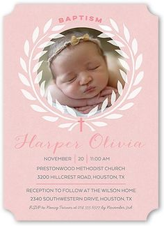 Ribbon cameo printable invitation template customize add text and baptism invitations little introduction girl ticket corners pink stopboris Gallery