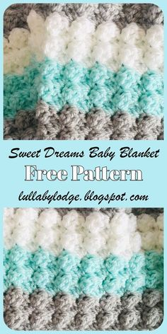 Wrap your little one up in this super snuggly crochet baby blanket. This free pattern includes step by step instructions to make this adorable blanket in 2 sizes and also comes with 2 colourway options. The tutorial also features helpful photos a Crochet Baby Blanket Free Pattern, Crochet Wrap Pattern, Crochet Stitches Patterns, Free Crochet, Baby Afghan Patterns, Baby Blankets To Crochet, Crochet Baby Afghans, Crochet Patterns For Blankets, Beginner Crochet Blankets