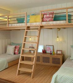 Симпатичная детская комната с ярусами от Cadas Arquitetura фото 05