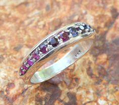 Multi color eternity ring in sterling silver by yovelJewelry