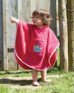 Baby Towelling Poncho - Organic Clothes By Frugi